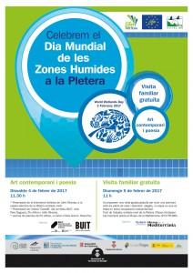 Cartell Dia Mundial de les Zones Humides 2017 Life Pletera